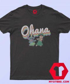 Disney Lilo Stitch Ohana Rainbow T Shirt