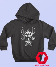 Disney Stitch Halloween Skeleton Cute Hoodie