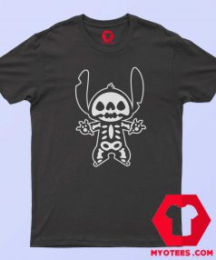 Disney Stitch Halloween Skeleton Cute T Shirt