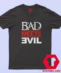 Eminem Rapper Bad Meets Evil Album T Shirt