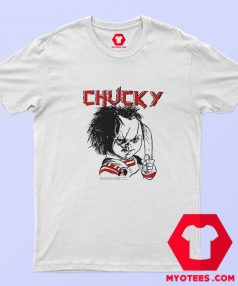 Evil Chucky Posed With Knife Drawing Image T Shirt