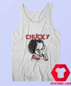 Evil Chucky Posed With Knife Drawing Image Tank Top
