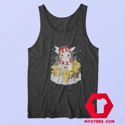 Funny Pikachu Snowman Christmas Tank Top
