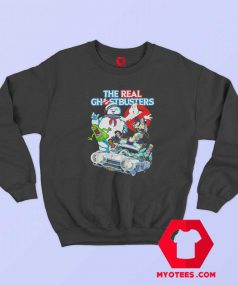 Ghostbusters Halloween Crew Collage Sweatshirt