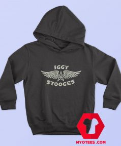 Iggy Pop The Stooges Wings Logo Hoodie