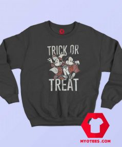 Mickey And Minnie Trick or Treat Halloween Sweatshirt