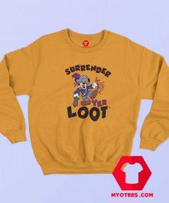 Mickey Mouse Surrender Yer Loot Halloween Sweatshirt