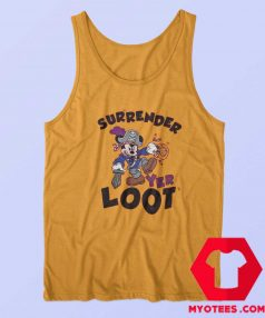 Mickey Mouse Surrender Yer Loot Halloween Tank Top