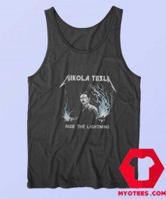 Nikola Tesla Ride The Lightning Unisex Tank Top