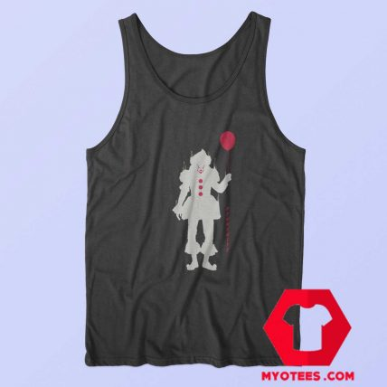 Pennywise With Balloon Halloween Tank Top