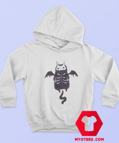 Skeleton Bat Cat Halloween Unisex Hoodie