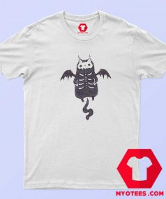 Skeleton Bat Cat Halloween Unisex T Shirt