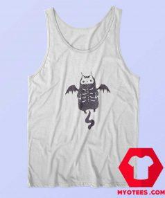 Skeleton Bat Cat Halloween Unisex Tank Top