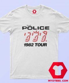 The Police 1982 Tour Vintage Unisex T Shirt