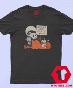 Welcome Great Pumpkin King Snoopy T Shirt