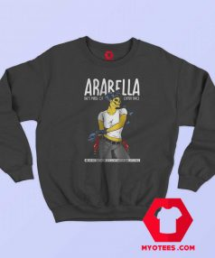 Artic Monkeys Alex Turner Pin Up Girl Sweatshirt
