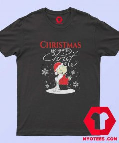 Christmas Begins With Charlie Brown Snoopy T Shirt