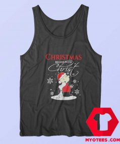 Christmas Begins With Charlie Brown Snoopy Tank Top