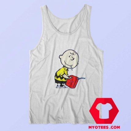 Cute Banksy Charlie Brown Unisex Tank Top