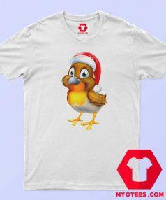 Cute Cartoon Robin Christmas Unisex T Shirt