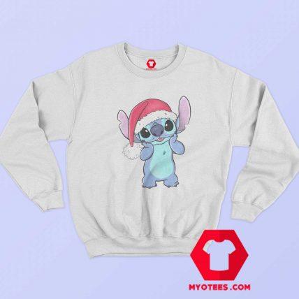 Disney Lilo Stitch Christmas Santa Hat Sweatshirt