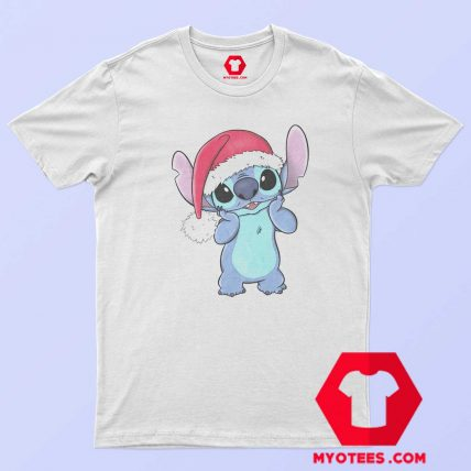 Disney Lilo Stitch Christmas Santa Hat T Shirt