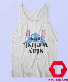 Disney Lilo and Stitch Stay Weird Officially Tank Top
