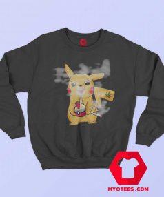 Funny Pokemon Parody Weed Smoking Sweatshirt