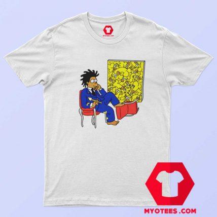 Funny Vintage Basquiat Simpson T Shirt