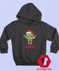 Funny Yoda May Christmas be with you Hoodie