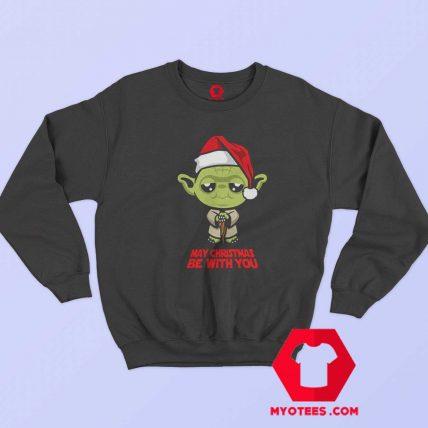 Funny Yoda May Christmas be with you Sweatshirt