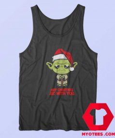 Funny Yoda May Christmas be with you Tank Top