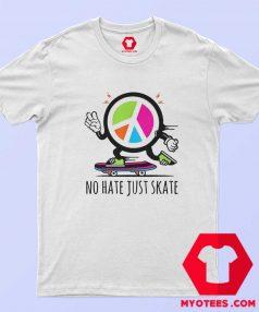 Herren No Hate Just Skate Symbol T Shirt