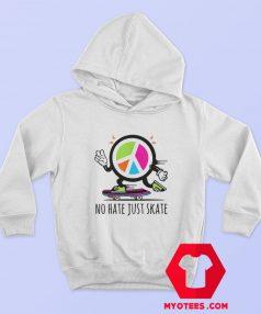 Herren No Hate Just Skate Symbol Unisex Hoodie