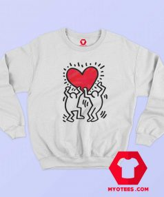 Keith Haring Holding Heart Icon Retro Sweatshirt