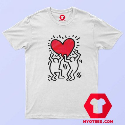 Keith Haring Holding Heart Icon Retro Tank Top