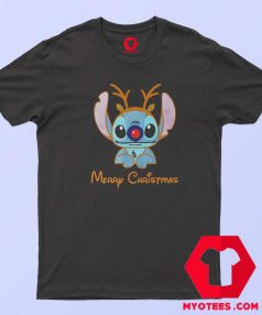 Lilo Stitch Reindeer Christmas Unisex T Shirt