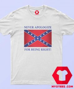Never Apologize For Being Right Unisex T Shirt
