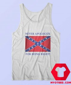 Never Apologize For Being Right Unisex Tank Top