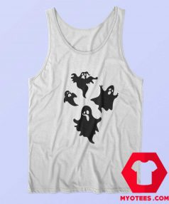 New Off White Cute Ghost Unisex Tank Top