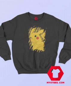 Pokemon Pikachu Brushy Graphic Sweatshirt