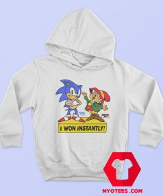 Sonic The Hedgehog I Won Instantly Hoodie