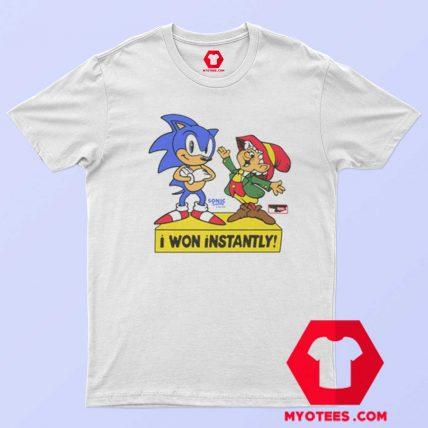 Sonic The Hedgehog I Won Instantly T Shirt