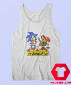 Sonic The Hedgehog I Won Instantly Tank Top