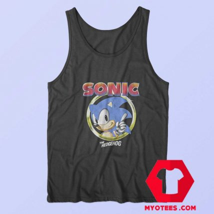 Sonic The Hedgehog Pointing Finger Tank Top