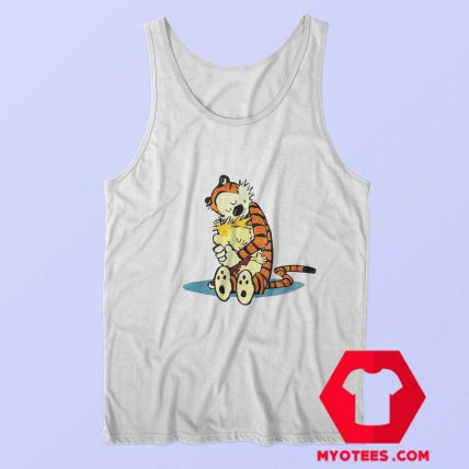 Strip Tiger Calvin Hobbes Hugging T Shirt
