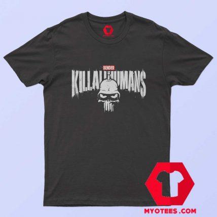 The Metal Punisher x Bender Futurama T Shirt