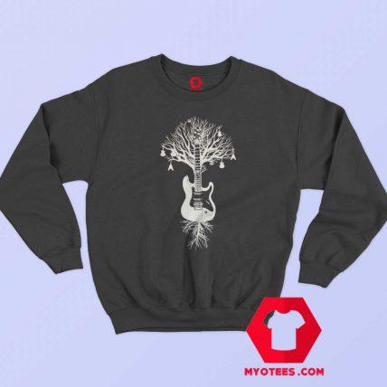 Tree Electric Bass Guitar Music Rock Sweatshirt