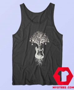 Tree Electric Bass Guitar Music Rock Tank Top