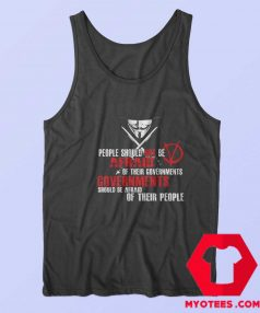 V for Vendetta Fawkes Mask Political Tank Top